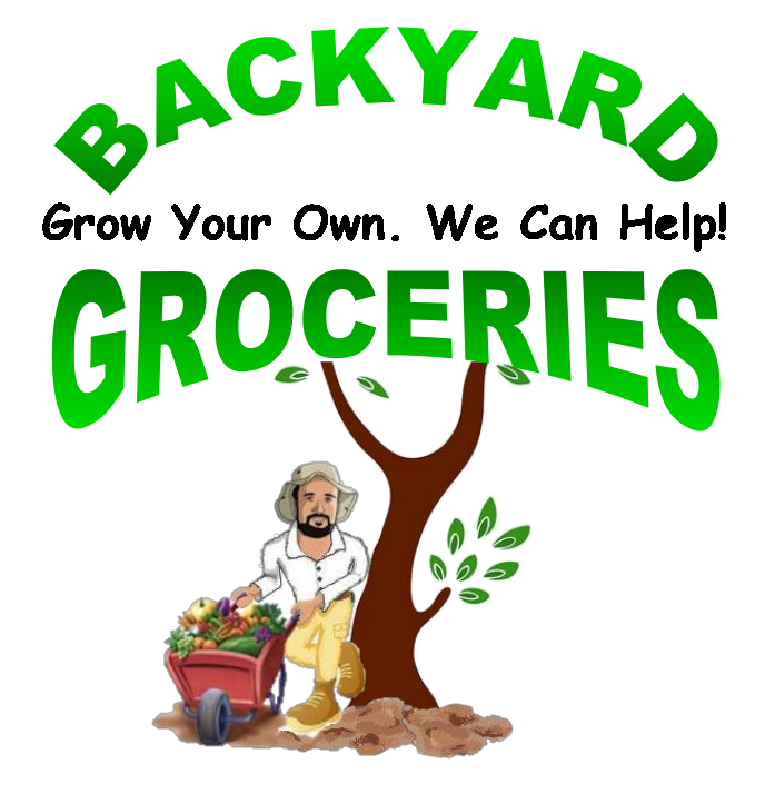 Backyard Groceries Logo with black middle